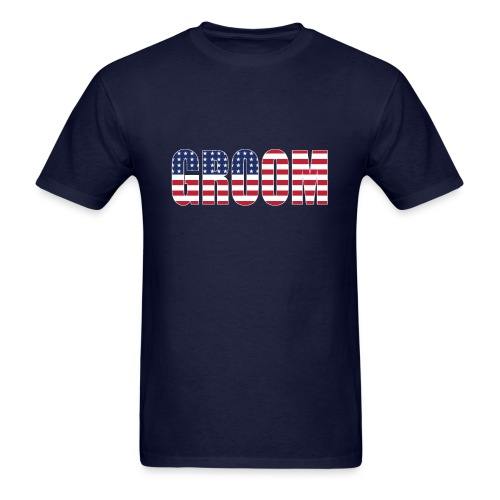 Groom US Flag - Men's T-Shirt