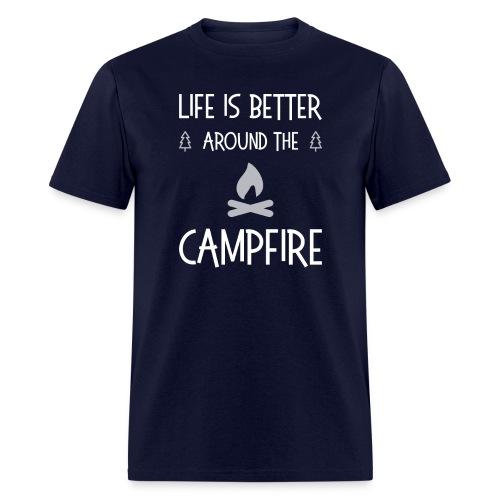 Life is better around campfire T-shirt - Men's T-Shirt
