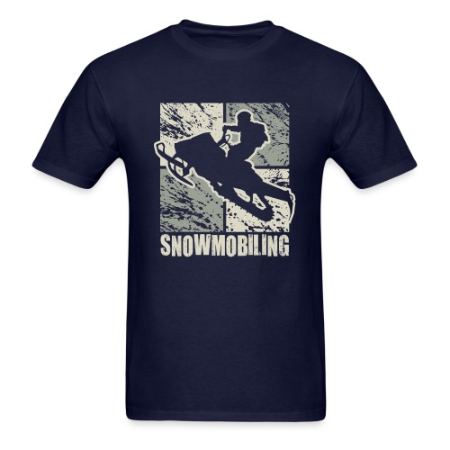 Snowmobile Rider Cubism - Men's T-Shirt