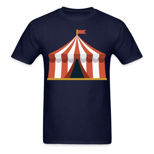 Striped Circus Tent - Men's T-Shirt