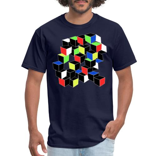 Optical Illusion Shirt - Cubes in 6 colors- Cubist - Men's T-Shirt