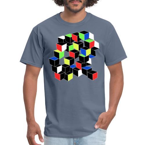 Optical Illusion Shirt - Cubes in 6 colors- Cubist - Men's T-Shirt