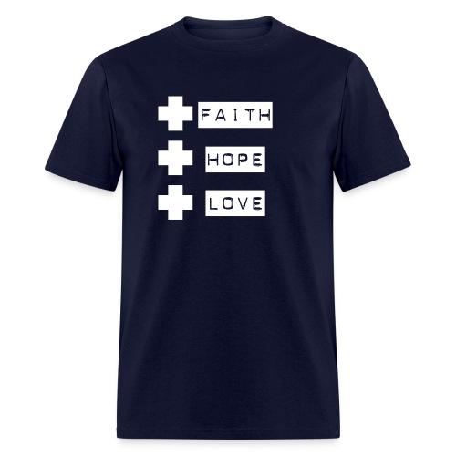 3 crosses , faith hope love - Men's T-Shirt