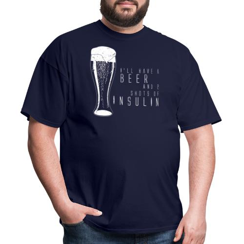 Beer and 2 Shots - Men's T-Shirt