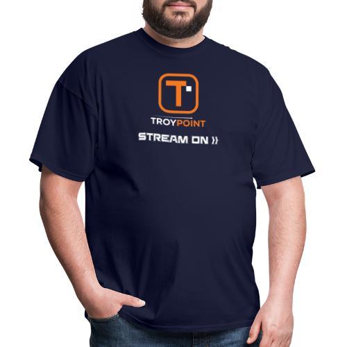 TROYPOINT Stream On Orange Logo - Men's T-Shirt