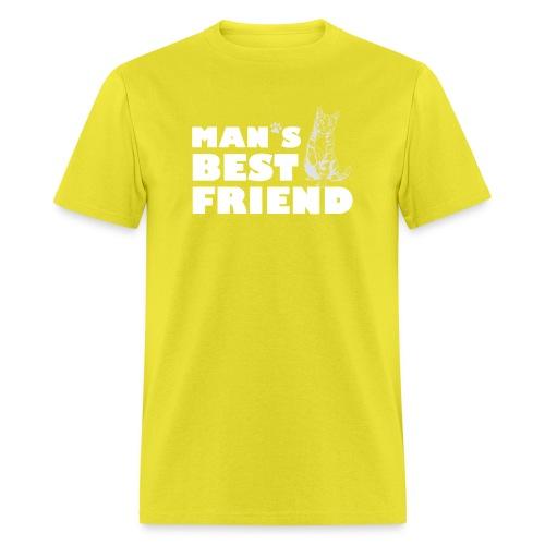 Man's Best Friend Cat Logo - Men's T-Shirt