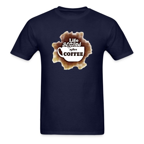 Life begins With Coffee - Men's T-Shirt