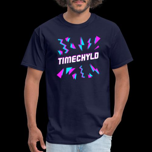 Timechyld Logo with Retro Pattern - Men's T-Shirt