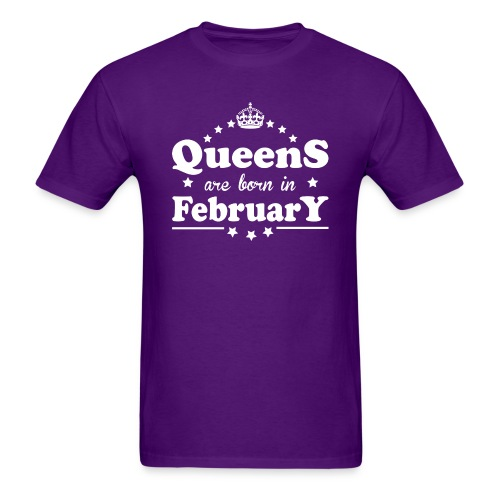 Queens are born in February - Men's T-Shirt
