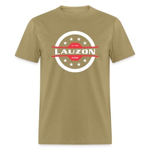 White on Black Lauzon MMA Logo w No Words - Men's T-Shirt