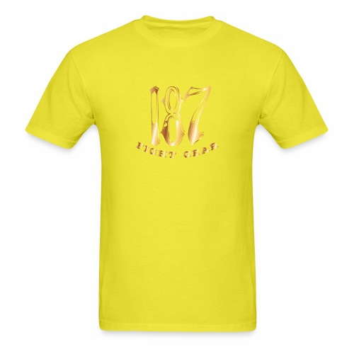 187 Fight Gear Gold Logo Street Wear - Men's T-Shirt