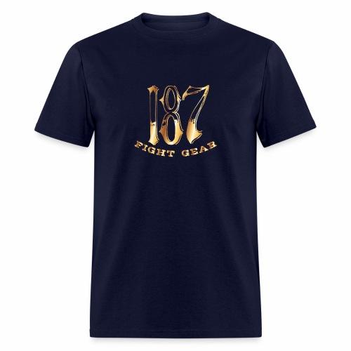 187 Fight Gear Gold Logo Street Wear - Men's T-Shirt