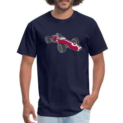Red racing car, racecar, sportscar - Men's T-Shirt
