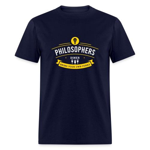 Philosophers Diner - Men's T-Shirt