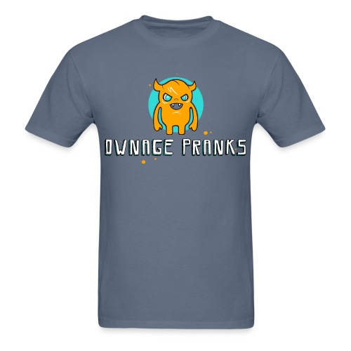 ownagepranks logo orange - Men's T-Shirt