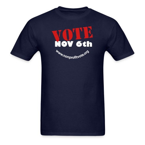 vote button 3 nobg - Men's T-Shirt