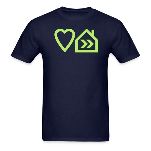Heart House Music - Symbolic Design 2 - Men's T-Shirt