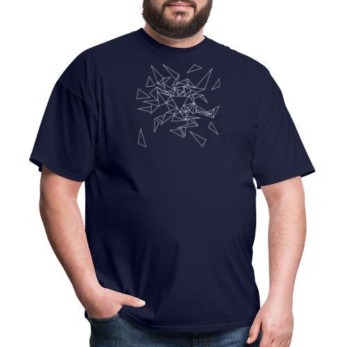 Triangles - White - Men's T-Shirt