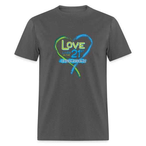 Down Syndrome Love (Blue) - Men's T-Shirt