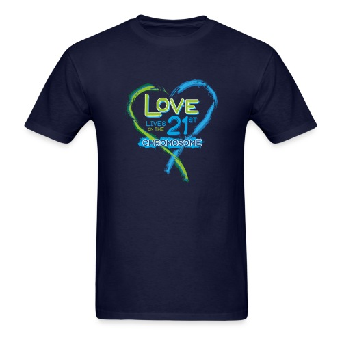 Down Syndrome Love (Blue) - Men's T-Shirt