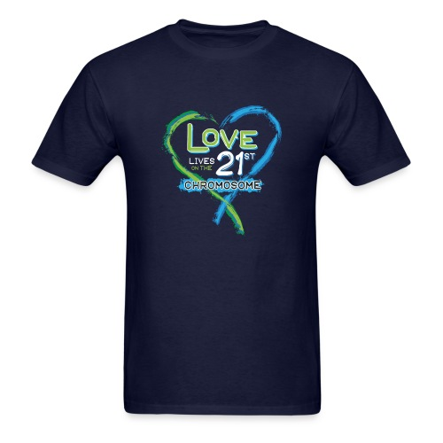 Down Syndrome Love (Blue/White) - Men's T-Shirt
