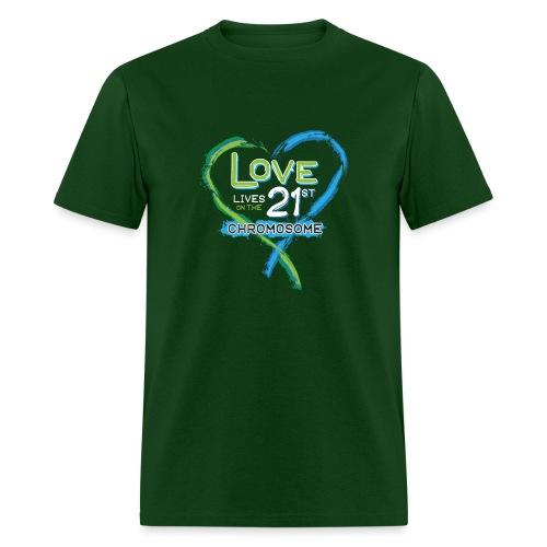 Down Syndrome Love (Blue/White) - Men's T-Shirt