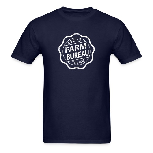 White Distressed Logo - Men's T-Shirt