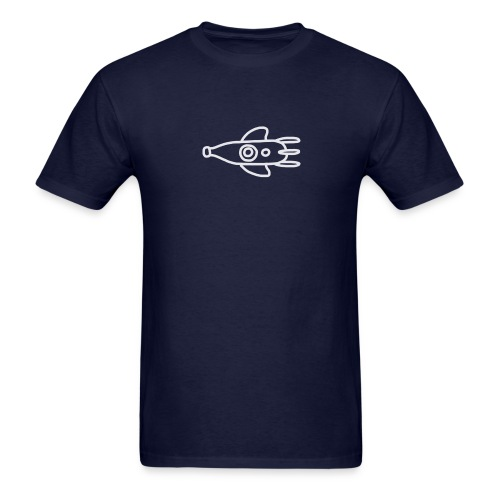 doodle logo (blanc) - Men's T-Shirt