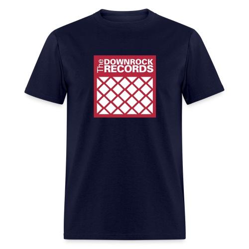 downrockrecords final 2wht - Men's T-Shirt