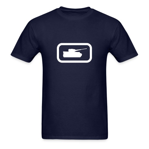Tank Logo (White) - Axis & Allies - Men's T-Shirt