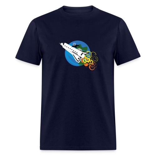 Space Bat Hitching A Ride Ladies Tee - Men's T-Shirt