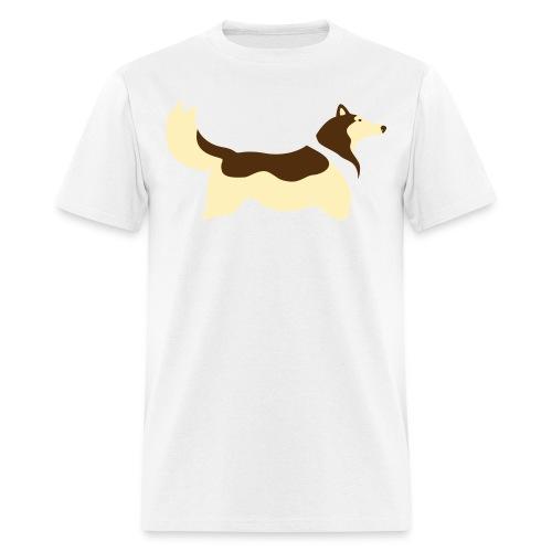 Sable Collie silhouette - Men's T-Shirt