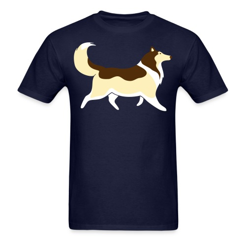 Sable Collie silhouette - Men's T-Shirt