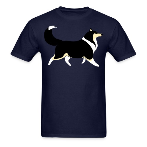 Merle Collie silhouette - Men's T-Shirt