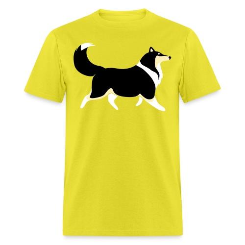 Merle Collie silhouette - Men's T-Shirt