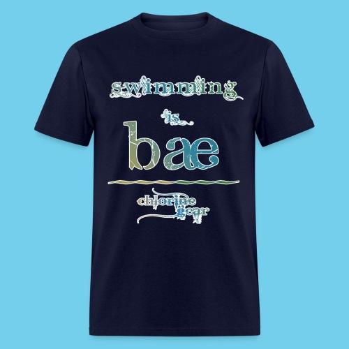 swimming is bae - Men's T-Shirt