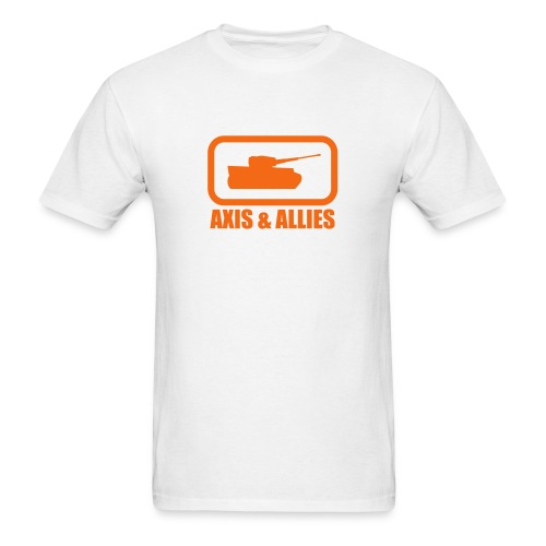 Tank Logo with Axis & Allies text - Multi-color - Men's T-Shirt
