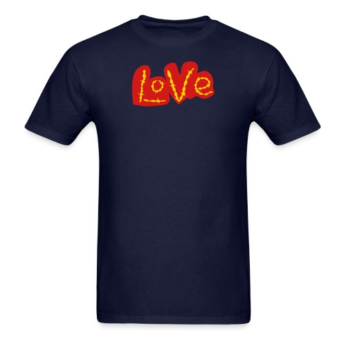 love love gold - Men's T-Shirt