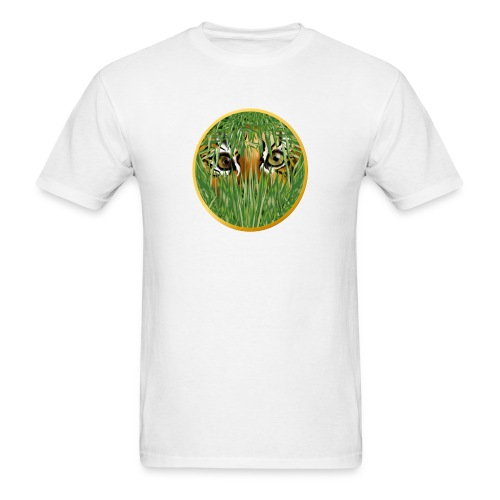Tiger In The Grass - Men's T-Shirt