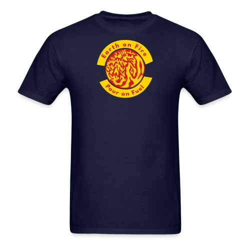 earth on fire again - Men's T-Shirt