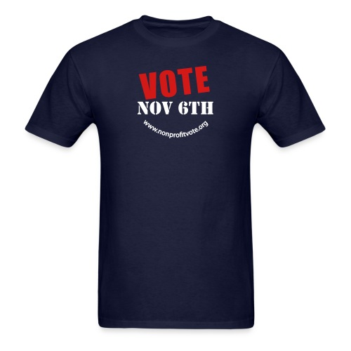 vote button 2 nobg - Men's T-Shirt