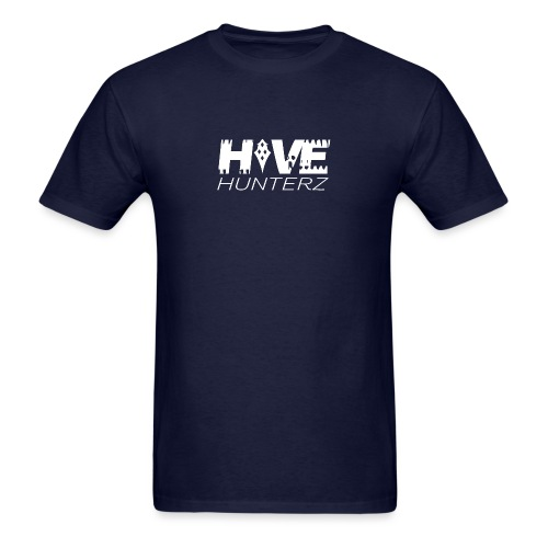 White Hive Hunterz Logo - Men's T-Shirt