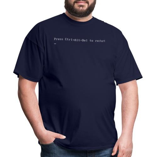 Press Ctrl+Alt+Del to restart - Men's T-Shirt