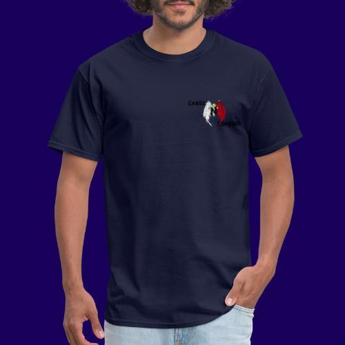ChaosNConquer Design Logo with Steampunk Girl - Men's T-Shirt