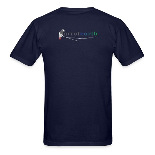 ParrotEarth Logo2TM gradient png - Men's T-Shirt
