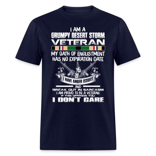 Grumpy desert storm veteran - Men's T-Shirt