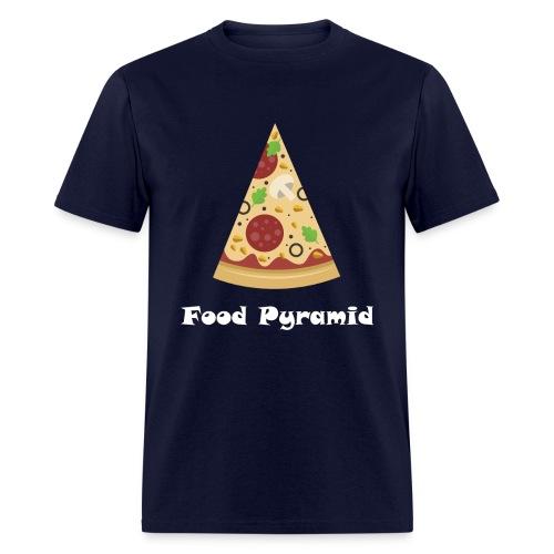 My Food Pyramid, Food Pyramid Shirt, Pizza, Pizza - Men's T-Shirt