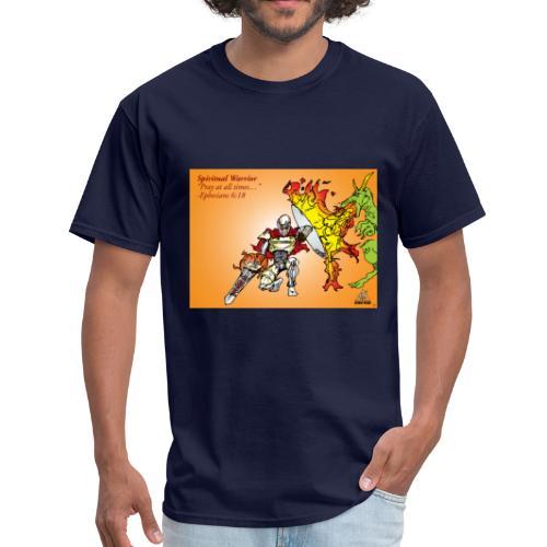 Spiritual Warrior by Faith T-Shirt Pray times - Men's T-Shirt