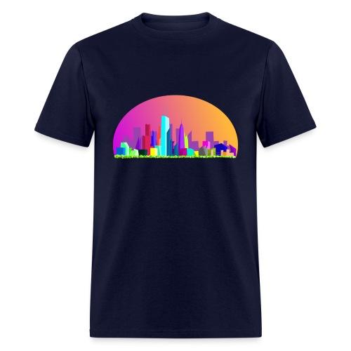 Summer evening city skyline - Men's T-Shirt