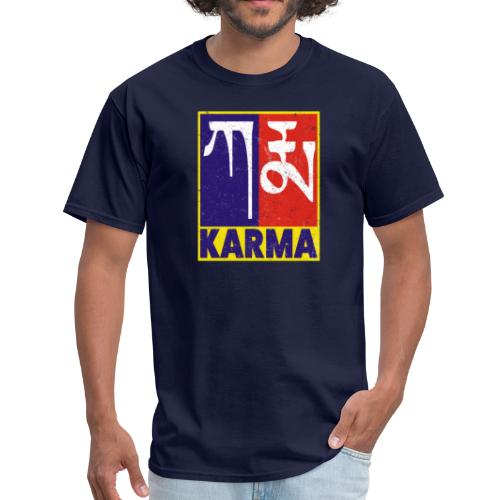 Karma Tibetan Word Text - Men's T-Shirt